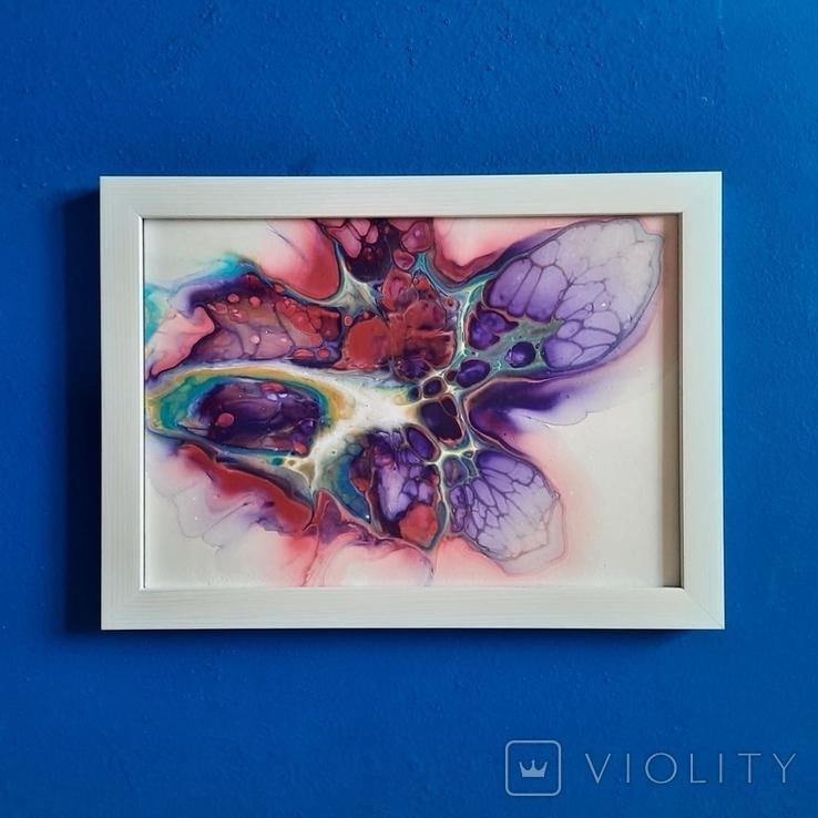Картина/ живопис/ абстракція Fluid Art #62 acrylic, фото №8