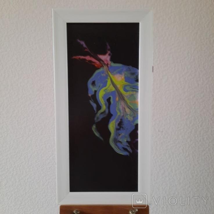 Картина/триптих/ живопис/ абстракція Fluid Art #63 acrylic, фото №6