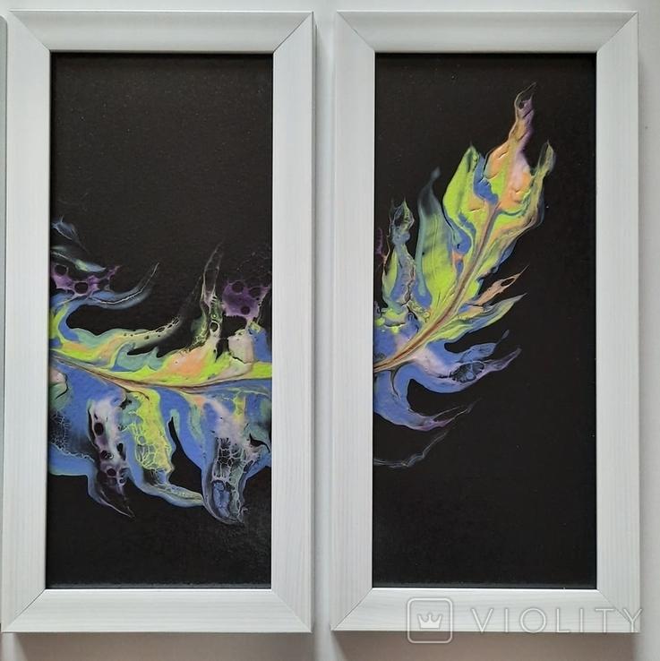 Картина/триптих/ живопис/ абстракція Fluid Art #63 acrylic, фото №12