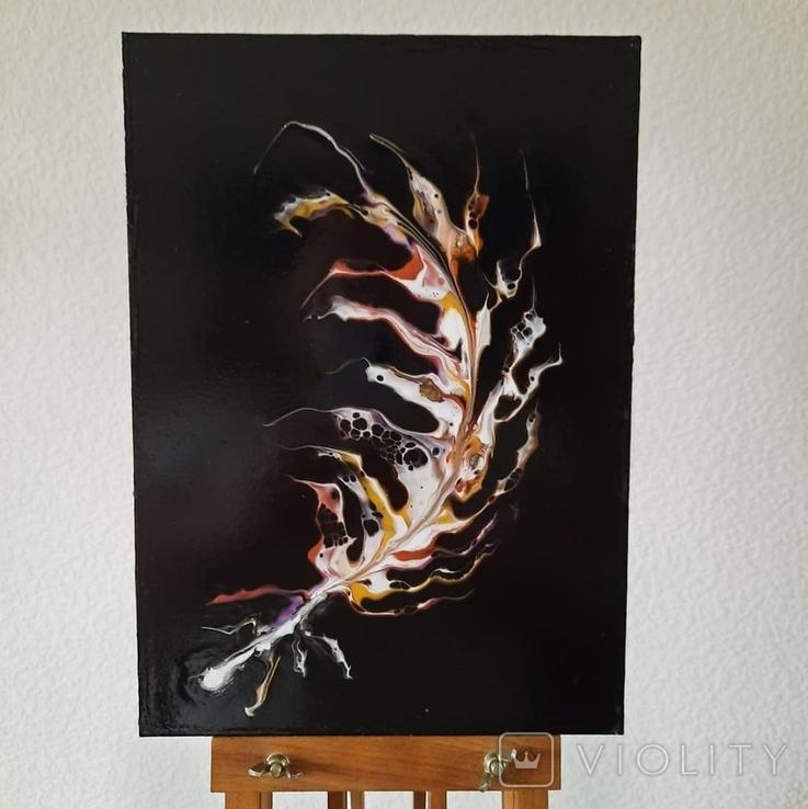 Картина/ живопис/ абстракція Fluid Art #64 acrylic, фото №6