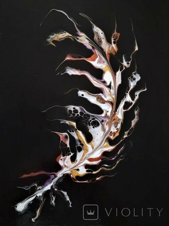 Картина/ живопис/ абстракція Fluid Art #64 acrylic, фото №9