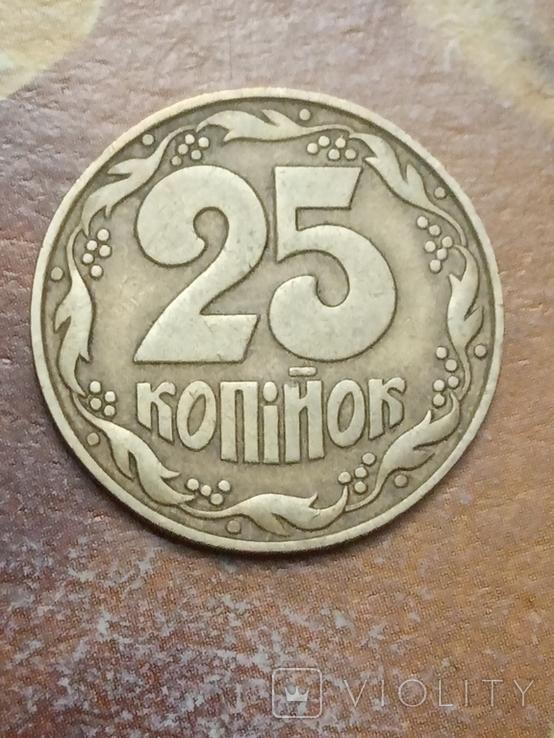 25 коп 1992 итальянский чекан поворот 180* аверса относительно реверса, фото №3