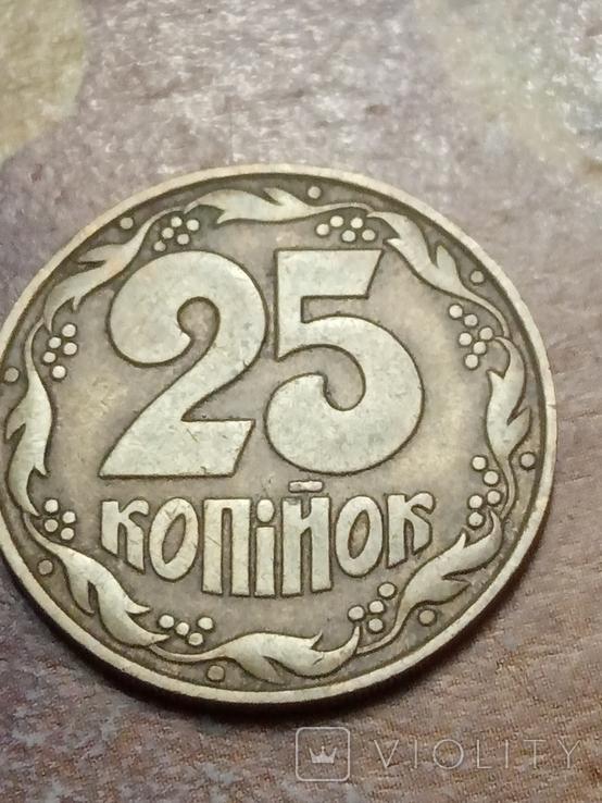 25 коп 1992 итальянский чекан поворот 180* аверса относительно реверса, фото №4