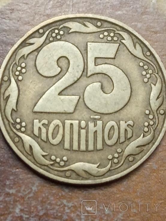 25 коп 1992 итальянский чекан поворот 180* аверса относительно реверса, фото №5