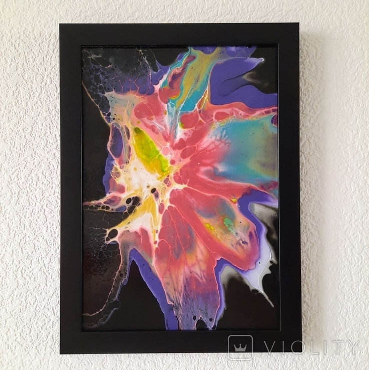 Картина/ живопис/ абстракція Fluid Art #65 acrylic, фото №2