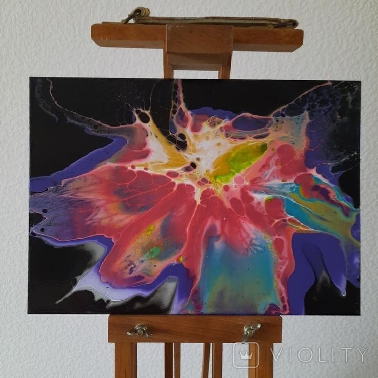 Картина/ живопис/ абстракція Fluid Art #65 acrylic, фото №4