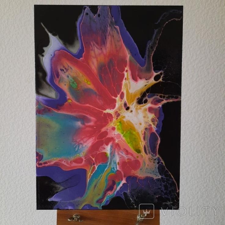Картина/ живопис/ абстракція Fluid Art #65 acrylic, фото №5