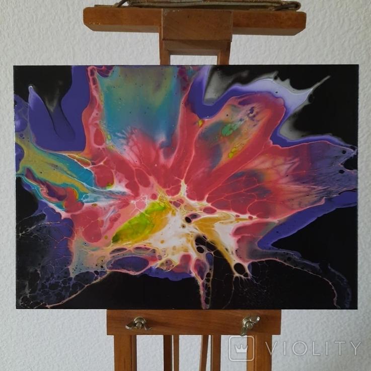 Картина/ живопис/ абстракція Fluid Art #65 acrylic, фото №6