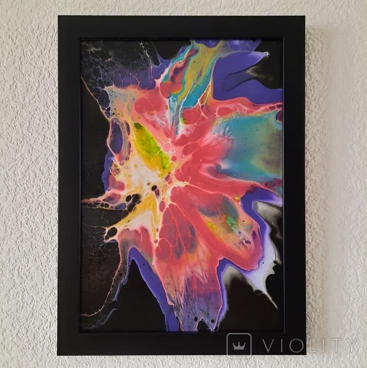 Картина/ живопис/ абстракція Fluid Art #65 acrylic, фото №11