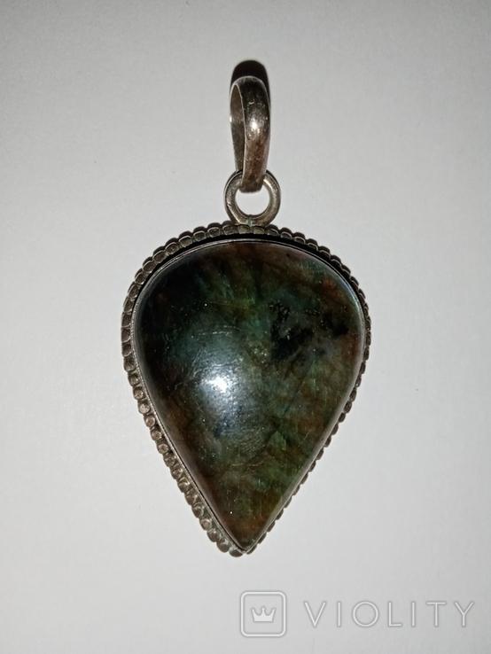 Совецкая подвеска с камнем, фото №2