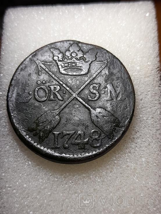 Швеция 2 эре 1748 S.M., фото №2