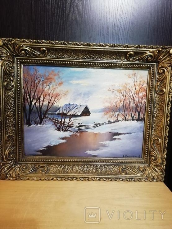 Картина в раме 54 на 44 Калашников В. А., фото №2