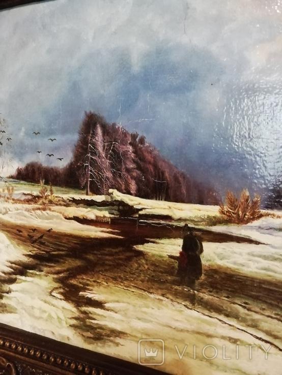 Оттепель Копия в раме, фото №5