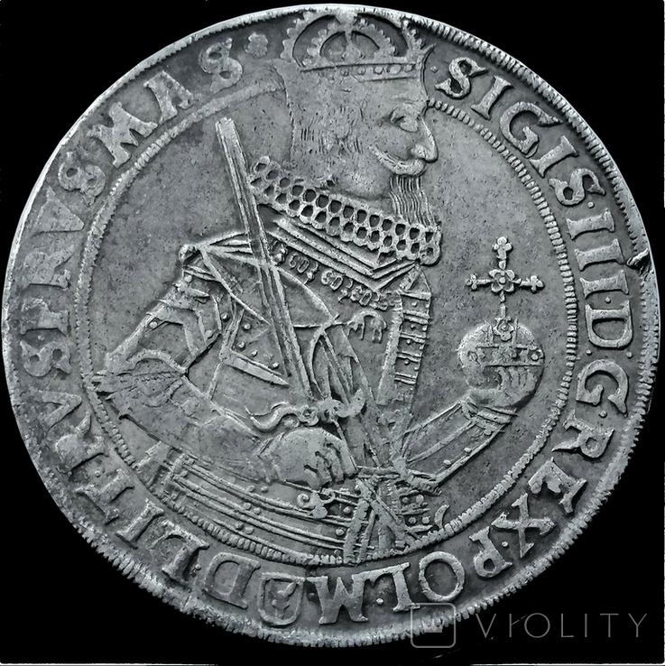 Талер 1631 року, короля Сігізмунда ІІІ Ваза, срібло, фото №2