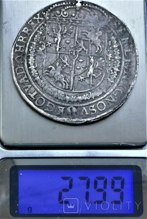Талер 1631 року, короля Сігізмунда ІІІ Ваза, срібло, фото №4