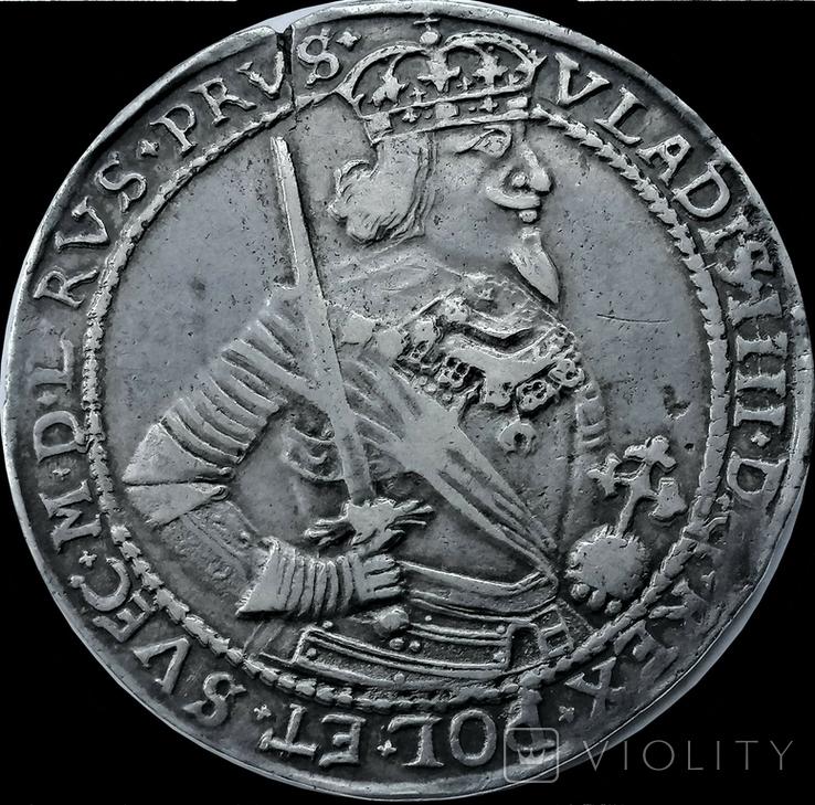 Талер 1639 року, короля Владислава IV Ваза, срібло, фото №2