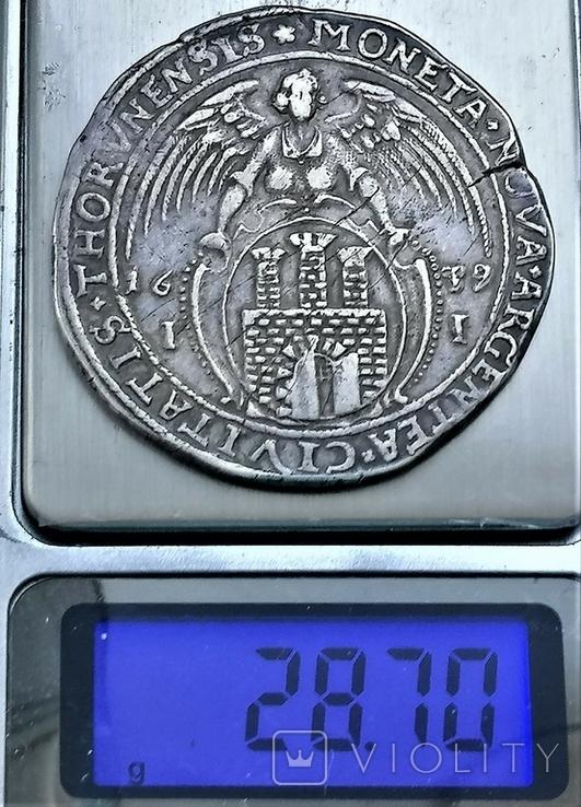 Талер 1639 року, короля Владислава IV Ваза, срібло, фото №4