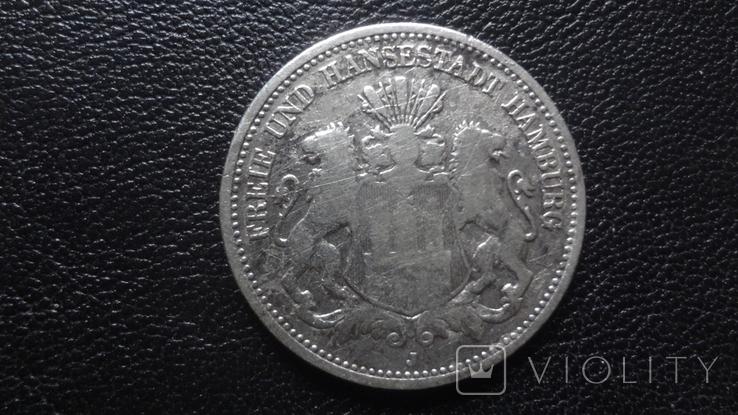 2 марки 1876 Гамбург серебро (G.5.2), фото №2