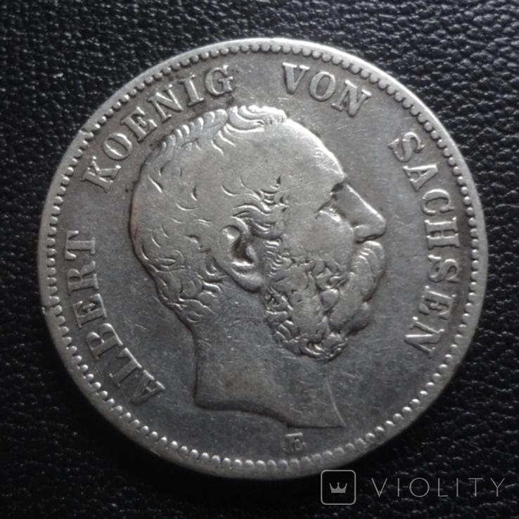2 марки 1876 Саксония серебро (G.5.3), фото №2