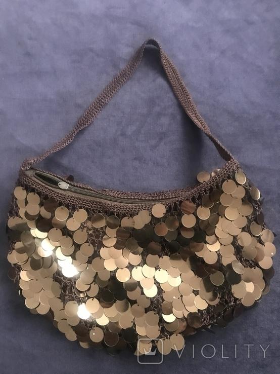Жвноча сумка з паєтками, фото №3