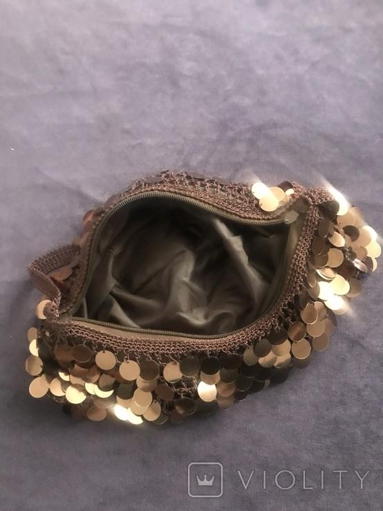 Жвноча сумка з паєтками, фото №4