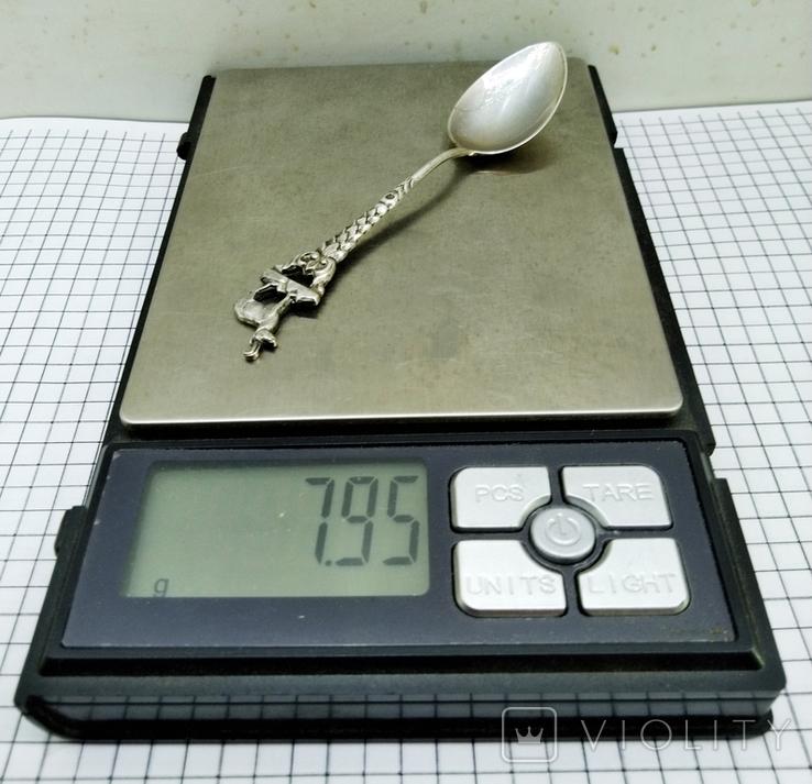 Чайная ложка серебро 800 ANTIKO, фото №8