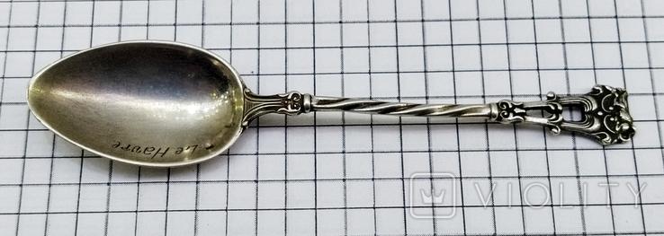 Чайная ложка серебро 800, Le Havre, фото №4