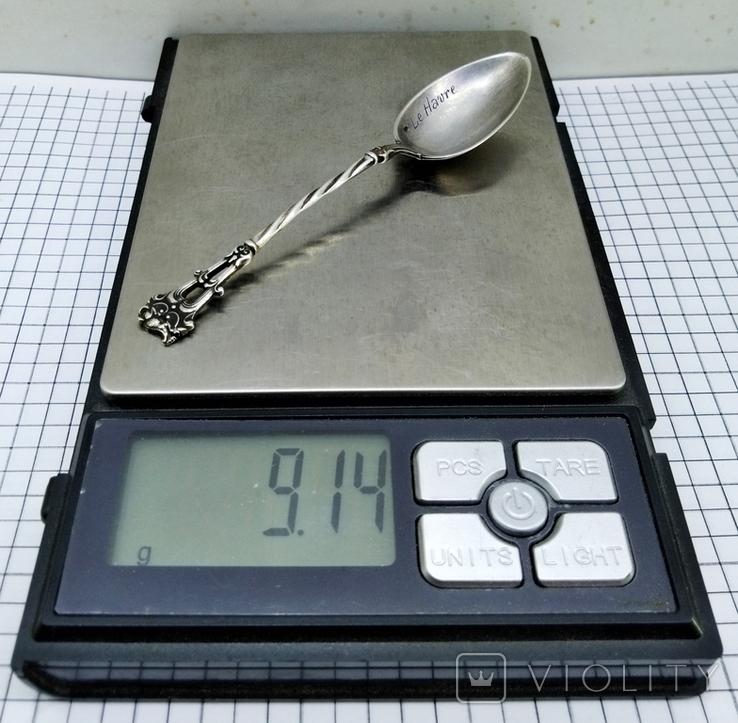 Чайная ложка серебро 800, Le Havre, фото №11