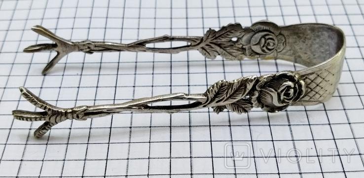 Щипцы для сахара серебро 800. Германия., фото №9