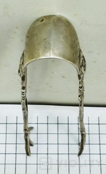 Щипцы для сахара серебро 800. Германия., фото №11