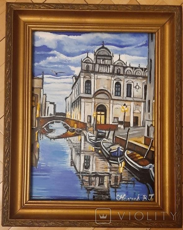 Картина Венеция,худ Колчев, фото №2