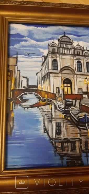 Картина Венеция,худ Колчев, фото №5