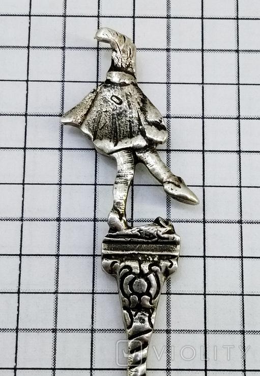 Чайная ложка серебро 800 проба, фото №6