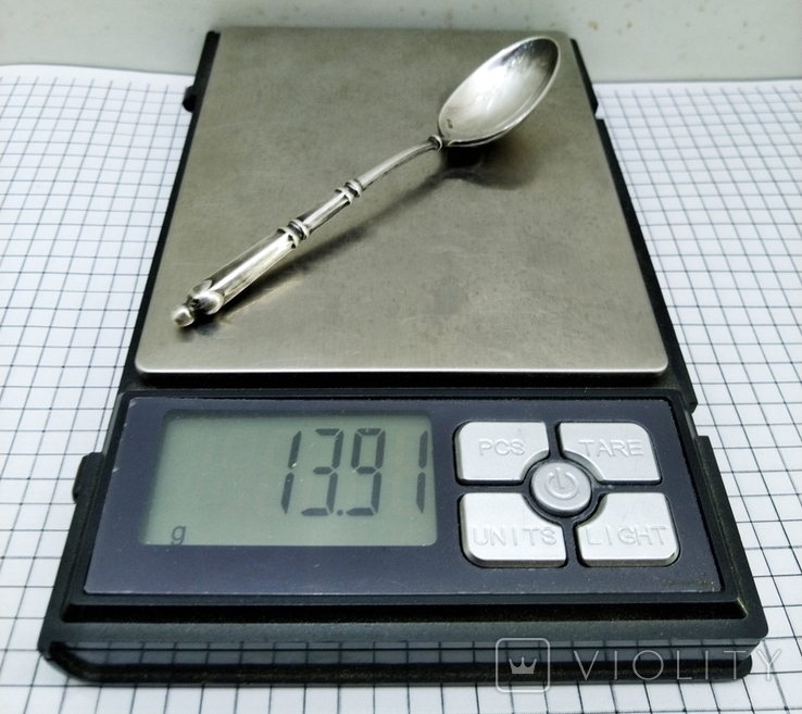 Чайная ложка серебро 800, клейма, фото №9