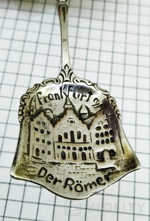 Ложка серебро 800, Frankfurt, фото №4