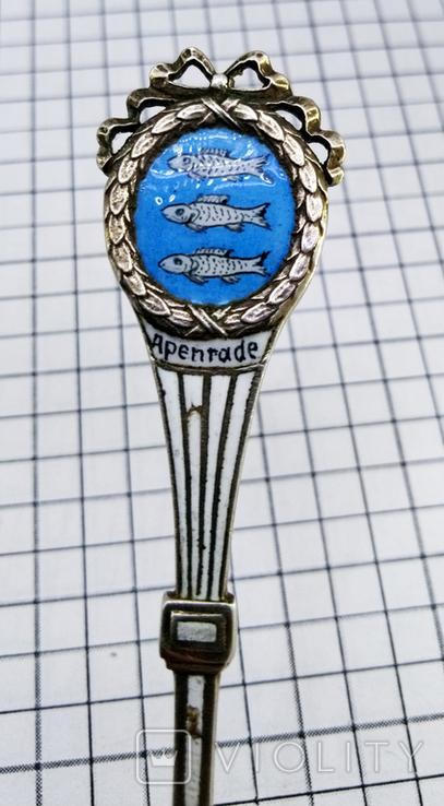 Чайная ложка серебро 800, корона клеймо, фото №8