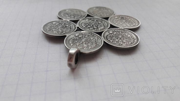 Підвіска срібна з царських копійок, фото №7