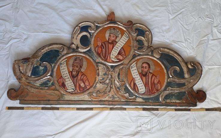 Часть иконостаса. Пророки. Україна 18 ст., фото №2