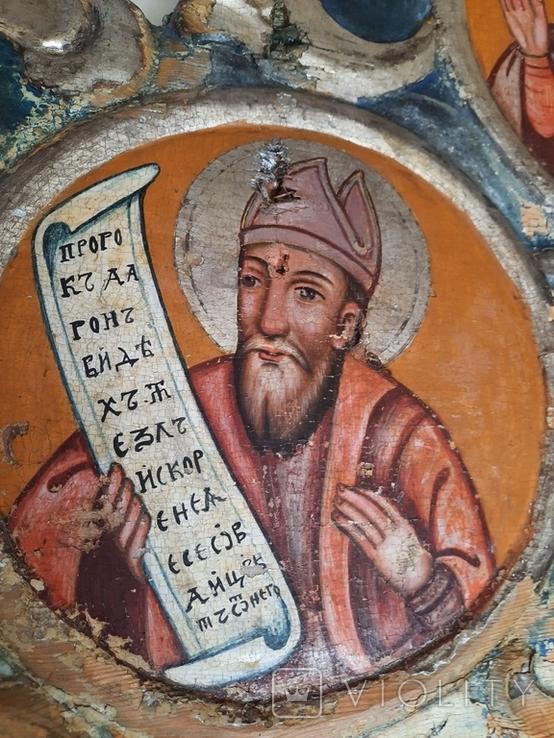 Часть иконостаса. Пророки. Україна 18 ст., фото №9