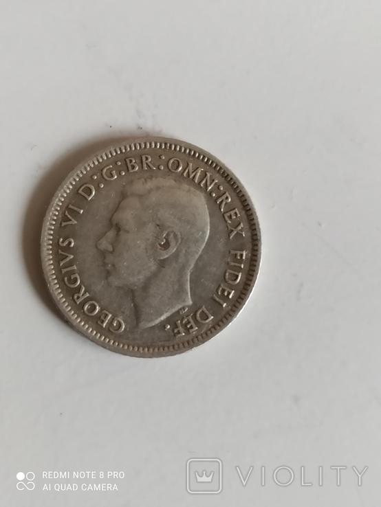6 пенсов 1950 год. Австралия. серебро., фото №7