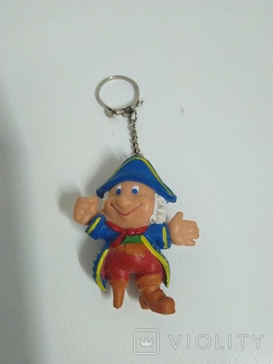 Игрушка фигурка брелок Пират времен ссср. цельно резиновый., фото №2