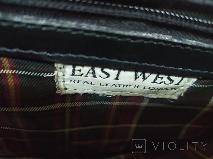 Кожаный портфель. Англия. East-West. Длина 41см, высота с ручкой 38см, фото №9