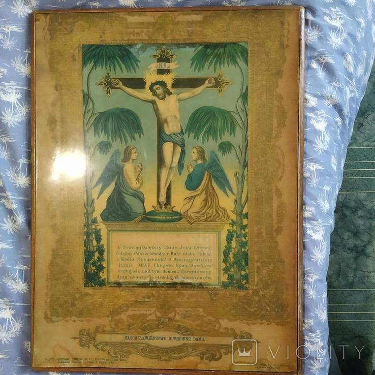 Литография 1888 год большая, фото №3
