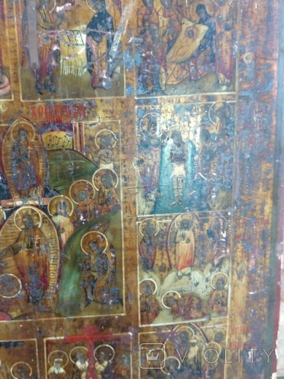 Икона Житие Пр.Б-цы Рождество Иисуса Христа, фото №5