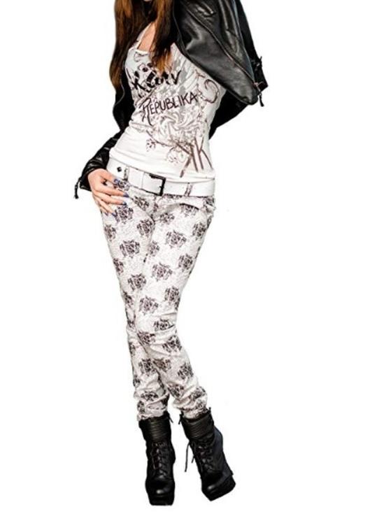 Брюки женские, стрейч джинс, фото №2