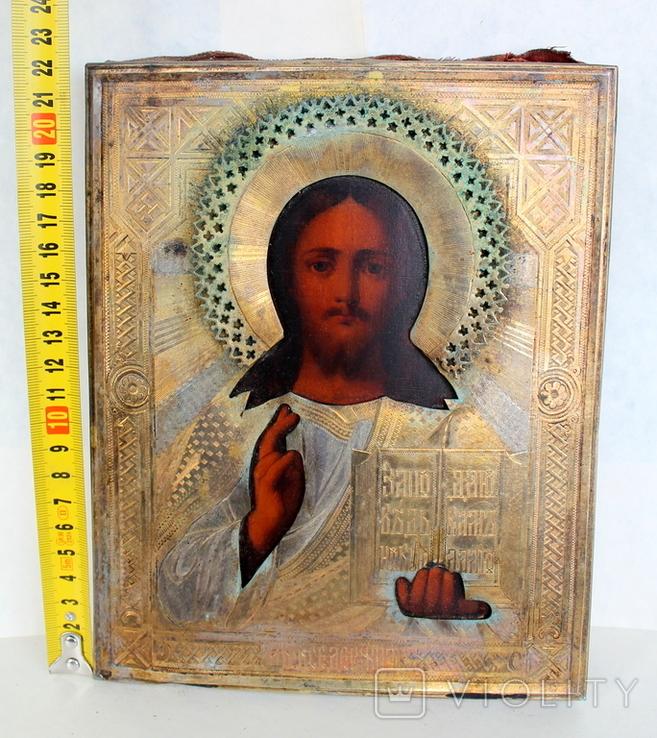 Икона Господь вседержитель (25см х 30см) под реставрацию, фото №7