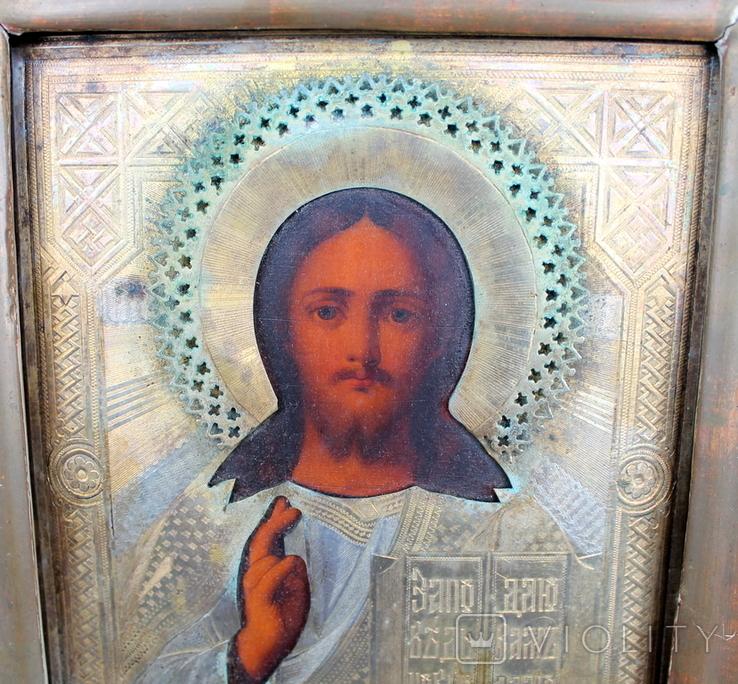 Икона Господь вседержитель (25см х 30см) под реставрацию, фото №8