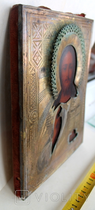Икона Господь вседержитель (25см х 30см) под реставрацию, фото №12