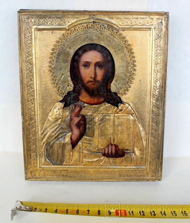 """Икона """"Господь Вседержитель"""" (22см х 25см) - под реставрацию, фото №4"""