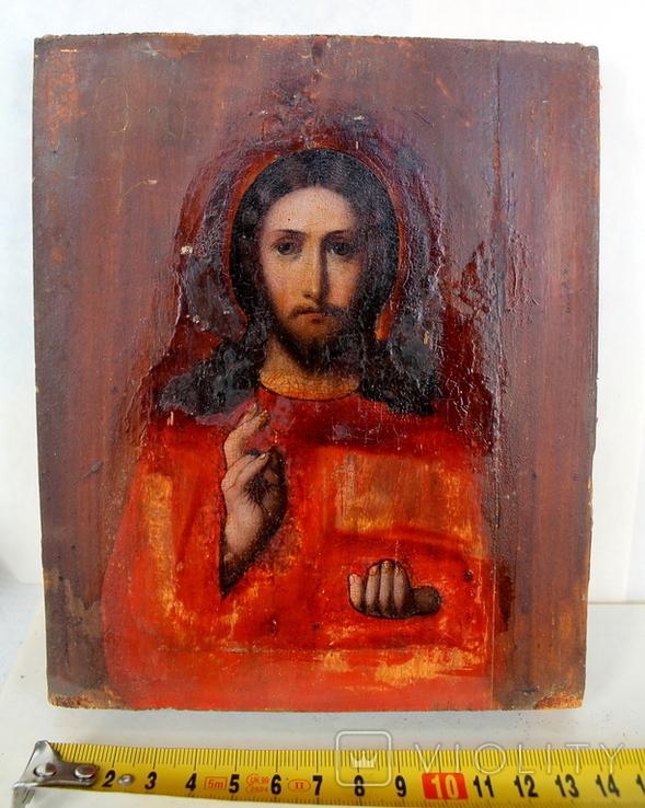 """Икона """"Господь Вседержитель"""" (22см х 25см) - под реставрацию, фото №10"""